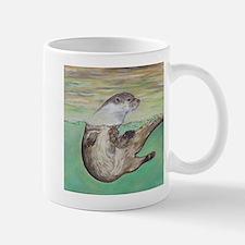 Playful River Otter Mugs