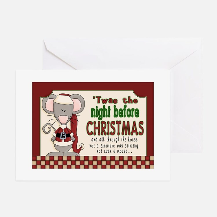 night before christmas mouse Greeting Cards