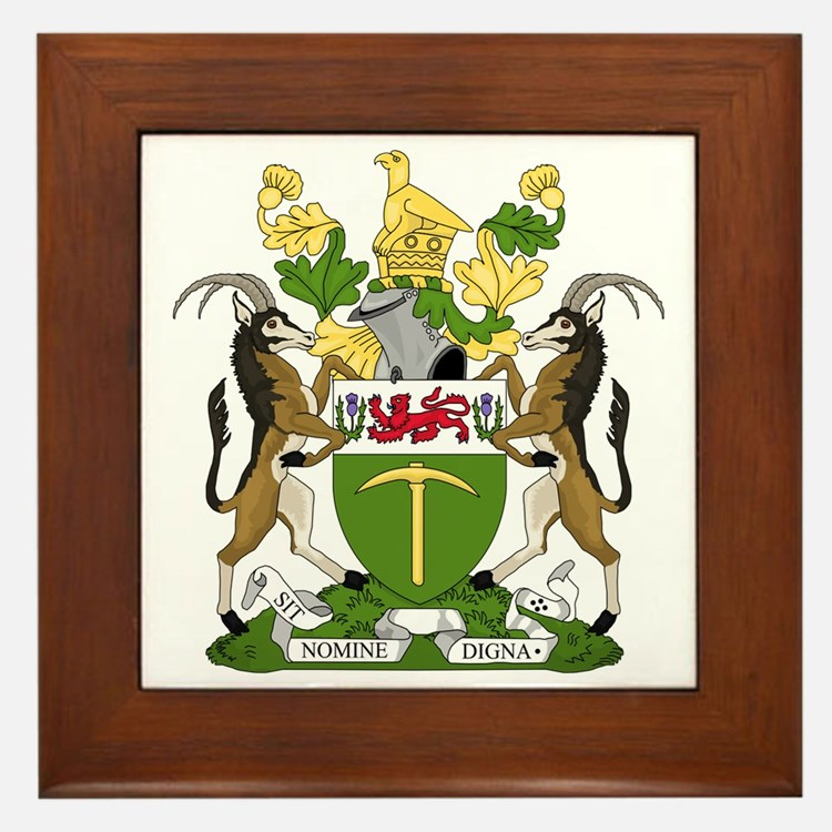Cute Rhodesia Framed Tile