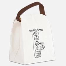 Surfing Flow Chart Humor Canvas Lunch Bag