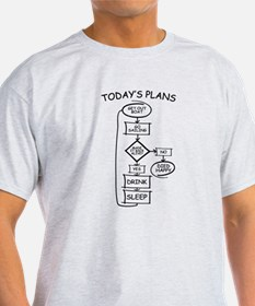 Sailing Humor Flow Chart T-Shirt