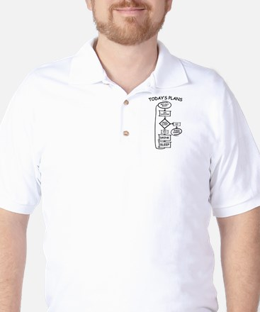 Sailing Humor Flow Chart Golf Shirt