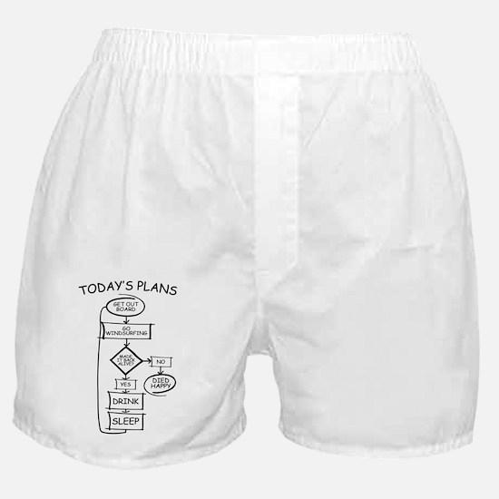 Windsurfing Humor Flow Chart Boxer Shorts