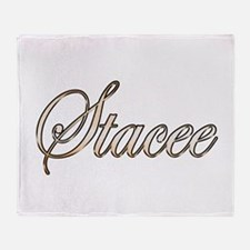 Gold Stacee Throw Blanket