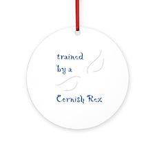 Trained by a Cornish Rex Keepsake (Round)
