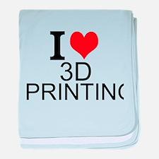 I Love 3D Printing baby blanket