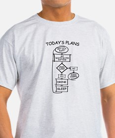 White Water Rafting Humor Flowchart T-Shirt