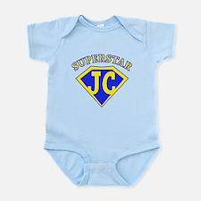 JC superstar in blue Body Suit