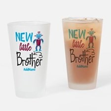 Little Brother Robot Personalized Drinking Glass
