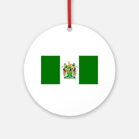Cute Rhodesia Round Ornament