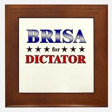 BRISA for dictator Framed Tile