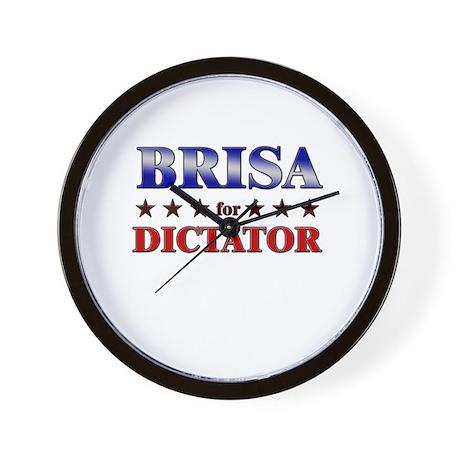 BRISA for dictator Wall Clock
