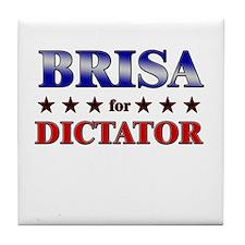 BRISA for dictator Tile Coaster