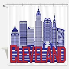 Cleveland City Colors Shower Curtain