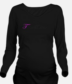 Mom of triplets Long Sleeve Maternity T-Shirt
