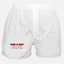 Young At Heart Funny Shirt Boxer Shorts