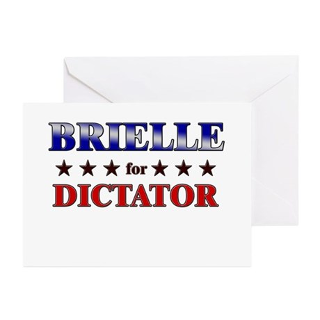 BRIELLE for dictator Greeting Cards (Pk of 10)