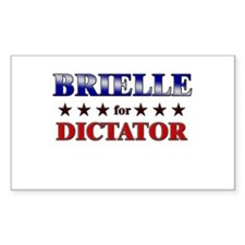 BRIELLE for dictator Rectangle Decal