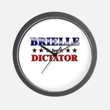 BRIELLE for dictator Wall Clock