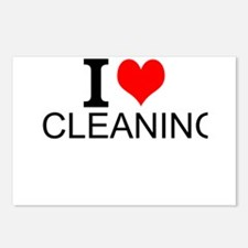 I Love Cleaning Postcards (Package of 8)