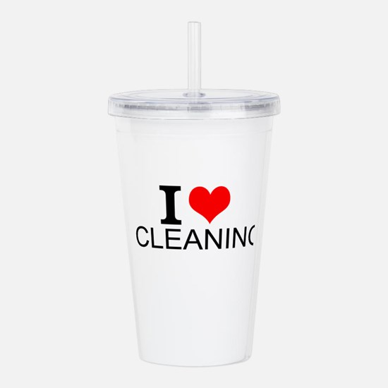 I Love Cleaning Acrylic Double-wall Tumbler