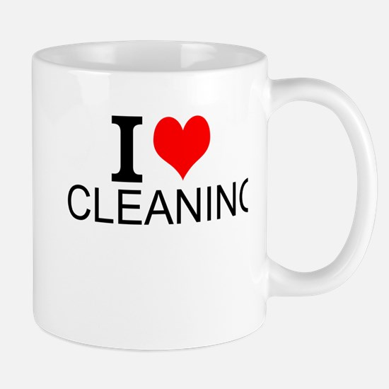 I Love Cleaning Mugs