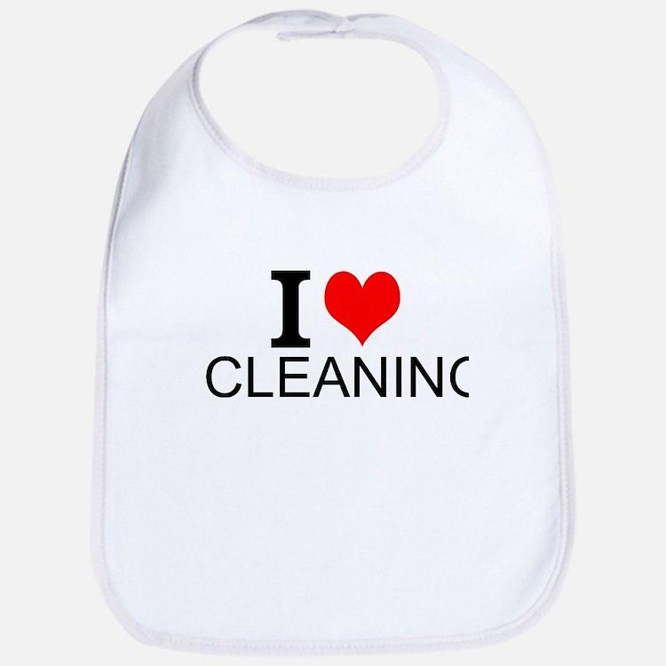 I Love Cleaning Bib