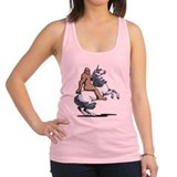 Bigfoot unicorn Womens Racerback Tanktop