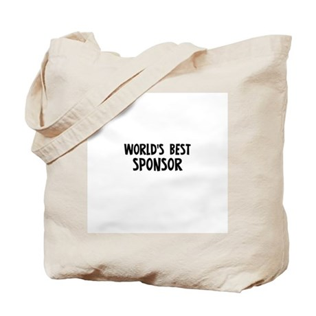World's Best Sponsor Tote Bag