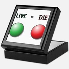 Live or Die Buttons Keepsake Box