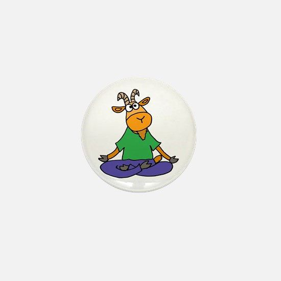 Goat Yoga Mini Button