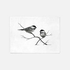 chickadee song bird 5'x7'Area Rug