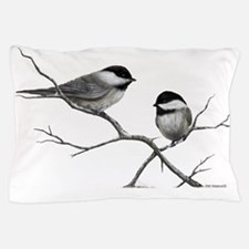 chickadee song bird Pillow Case