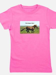 Cute Misty pony ponies chincoteague island Girl's Tee