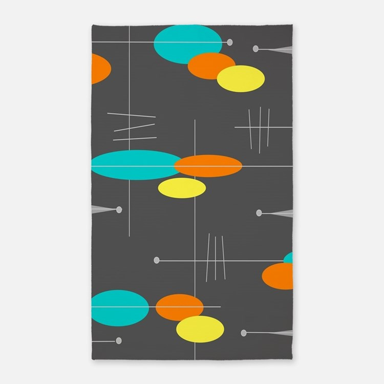 Space Age Spheres Area Rug