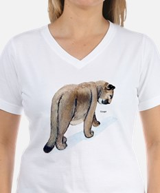 Cougar (Front) Ash Grey T-Shirt