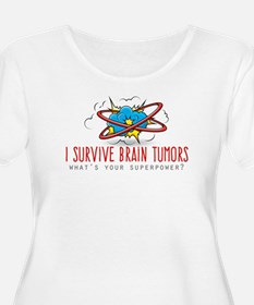 I Survive Brain Tumors Plus Size T-Shirt