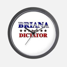 BRIANA for dictator Wall Clock