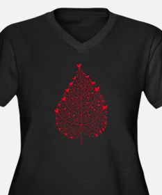 red heart leaf Plus Size T-Shirt