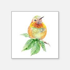 Rufous Hummingbird Watercolor Bird Nature Sticker
