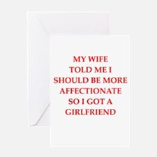 affection Greeting Cards
