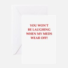 meds Greeting Cards