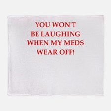meds Throw Blanket