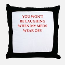meds Throw Pillow