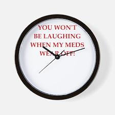 meds Wall Clock