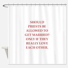 priest Shower Curtain