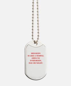 loose woman Dog Tags