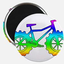 Rainbow fatbike Magnets