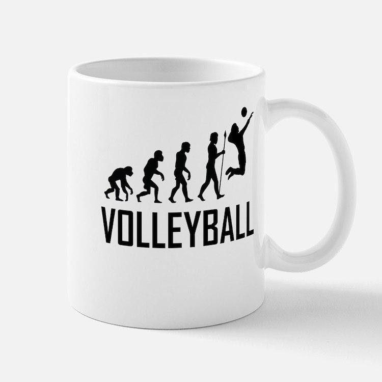 Volleyball Evolution Mugs