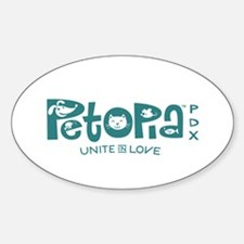 Petopia Logo Vinyl Bumper Sticker - In Two Sizes